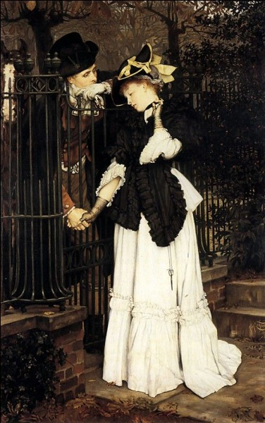 """Il a nommé sa toile """"Les Adieux"""". Qui a peint ces amants devant la grille du portail ?"""