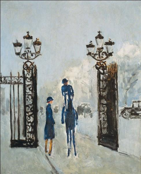 """Qui a peint cette grille représentant """"La Porte Dauphine"""" ?"""