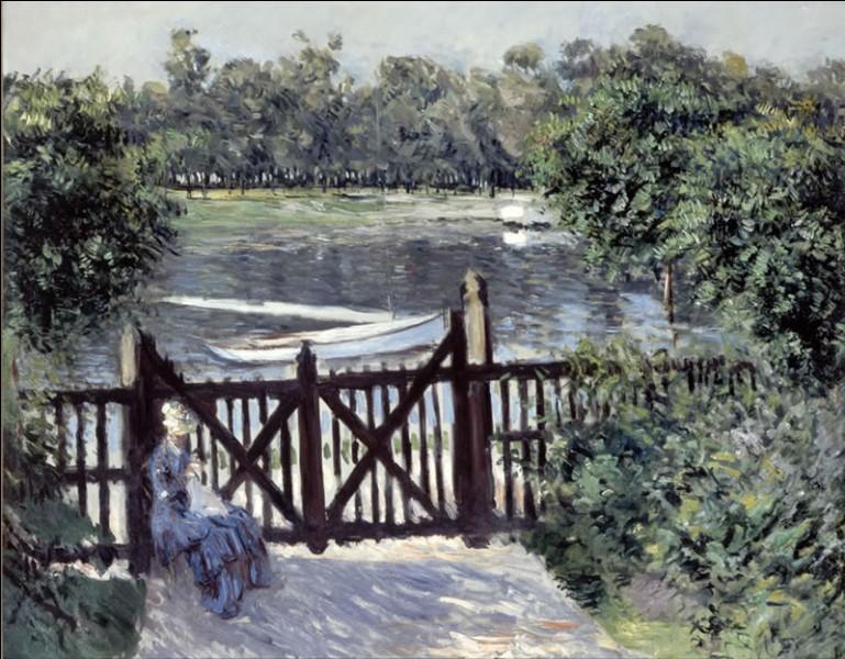 """À qui est la toile intitulée """"Barrière, entrée du jardin"""" ?"""