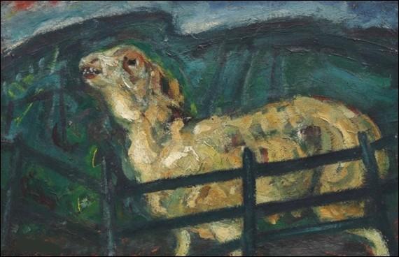 """Qui a représenté """"Le Mouton derrière la barrière"""" ?"""
