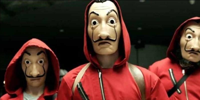 De qui sont inspirés les masques des braqueurs ?