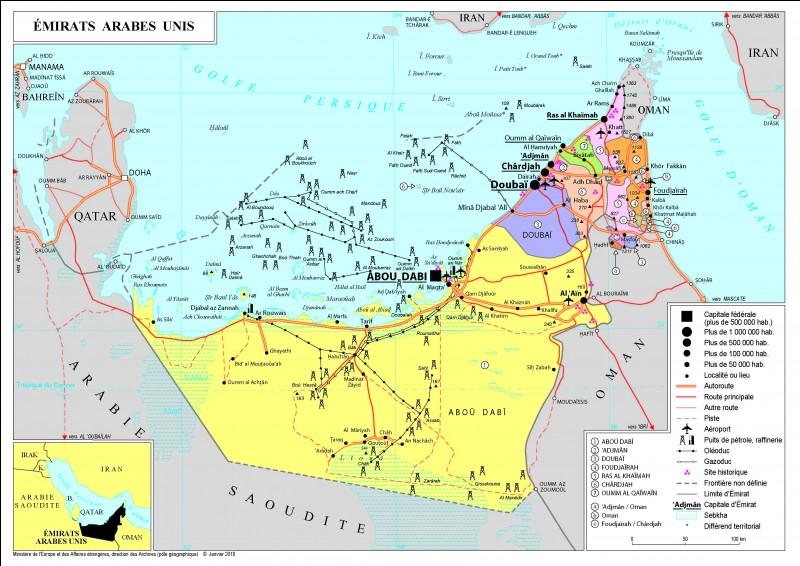 Combien y a-t-il d'Émirats arabes unis ?