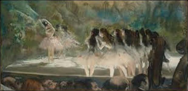 ''Ballet à l'Opéra de Paris'' est un pastel sur monotype sur papier vergé crème réalisé en 1877. Mesurant 3,52 m de haut sur 7,06 m de long, quel impressionniste a immortalisé cette scène ?