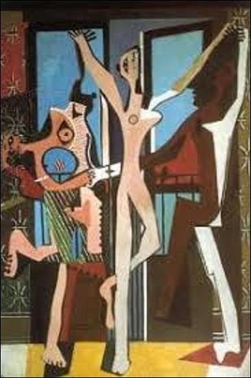 Peinture à l'huile réalisée en 1925, ''Les Trois Danseuses'' est un tableau peint par un cubiste, postimpressionniste et surréaliste. Tableau conservé au Tate Gallery de Londres, qui a peint ces trois femmes dansant ?