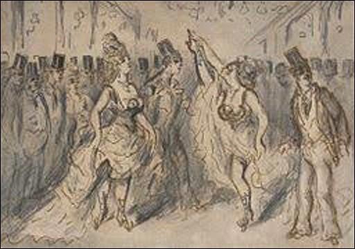Cochez le nom de ce peintre né à Flessingue (Pays-Bas) le 3 décembre 1802 et mort à Paris le 13 mars 1892 qui a exécuté ce tableau nommé ''Le Chahut'' ?