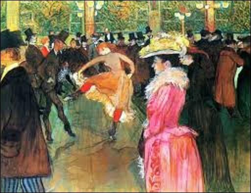 Conservé au Philadelphia Museum of Art à Philadelphie, ''La Danse au Moulin-Rouge'' également appelé ''Au Moulin-Rouge : La Danse'' ou ''Dressage des nouvelles par Valentin-le-Désossé'' est un tableau réalisé en 1890. Quel peintre postimpressionniste a dépeint cette scène ?