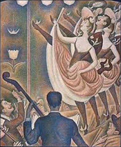 Réalisée entre 1889 et 1890, ''Le Chahut'' est une toile peinte par un pointilliste. De ces trois peintres appartenant à ce mouvement, lequel a réalisé ce tableau ?