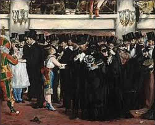 Quel est le nom de cet impressionniste et réaliste qui a peint ce tableau intitulé ''Bal masqué à l'opéra'' au printemps 1873 ?