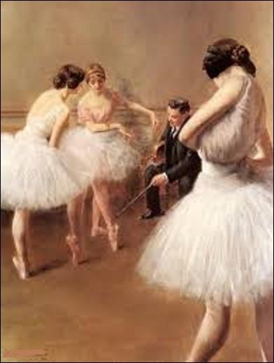 Pourriez-vous me citer le nom de ce peintre qui a réalisé ce tableau nommé ''La Leçon de ballet'' en 1914 ?