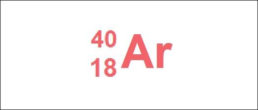 /Chimie/ Combien de neutrons cet atome d'argon possède-t-il ?