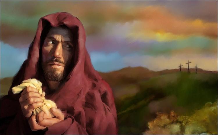 Apôtre dépositaire des aumônes, il se corrompit de telle sorte qu'il trahit son maître Jésus et le livra à ses ennemis. Qui est ce vaurien ?