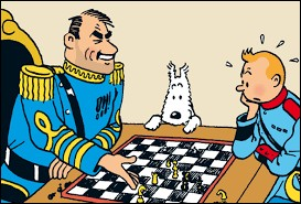 Avec qui Tintin joue-t-il aux échecs ?