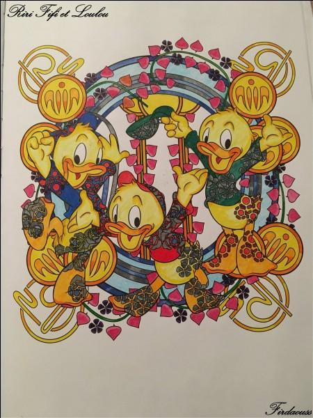 Voici les héros de Walt Disney, Riri, Fifi, Loulou, qui est leur maman ?