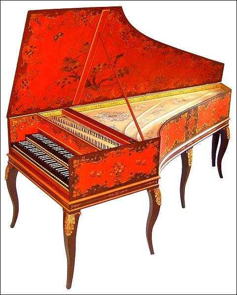 Le clavecin fait partie de la famille des instruments à vent.