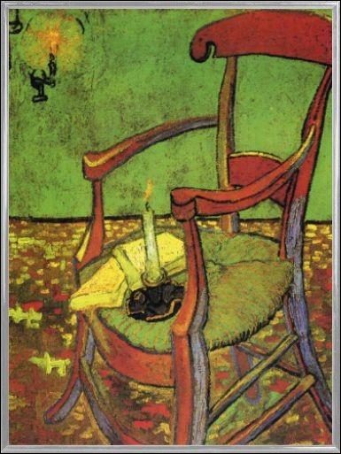 """Les bougies sont posées sur la chaise : qui a représenté """"La Chaise de Gauguin"""" ?"""