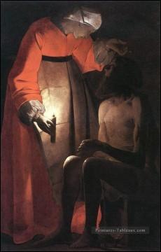 """Voici """"Job raillé par sa femme"""", œuvre du peintre :"""