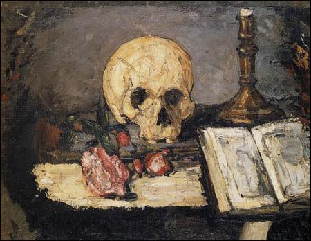 """Qui a peint """"Crâne et bougie"""" ?"""