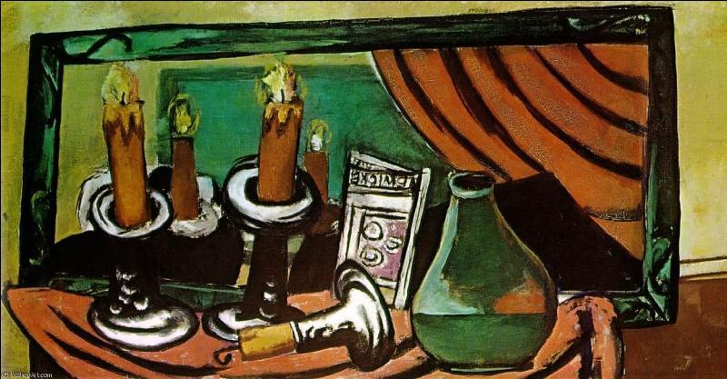 """Qui a peint """"Nature morte avec bougies et miroir ?"""