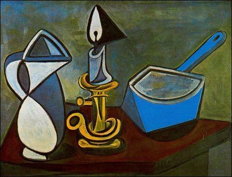 """Qui a peint """"Table, bougie, pot et casserole"""" ?"""