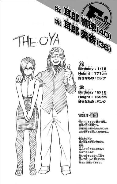 Comment s'appellent les parents de Kyoka ?