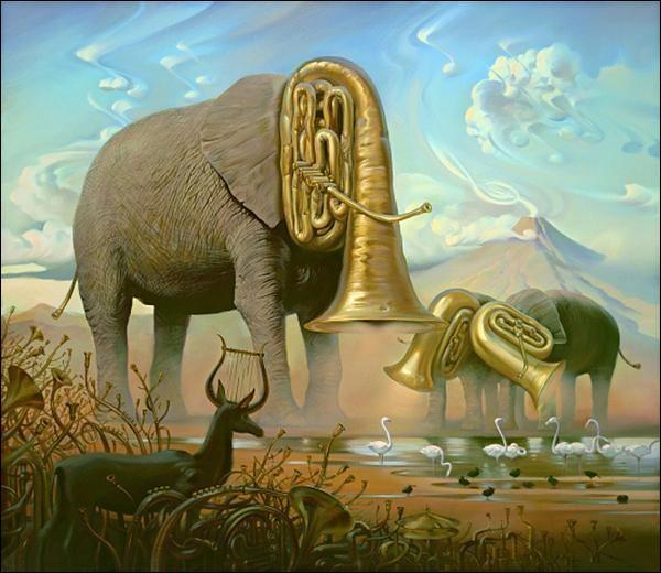 Qui a peint ces éléphants ?