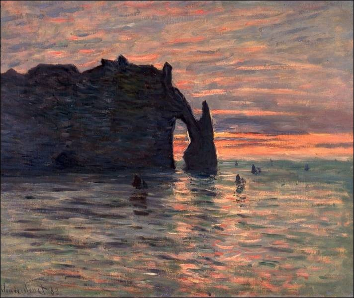 "À quel peintre doit-on ""Soleil couchant à Etretat"" ?"