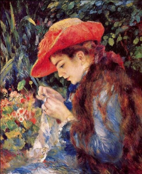 Qui a représenté Marie-Thérèse Durand-Ruel cousant ?