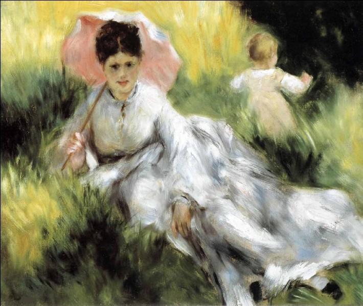 """Qui a peint """"Femme à l'ombrelle et enfant"""" ?"""