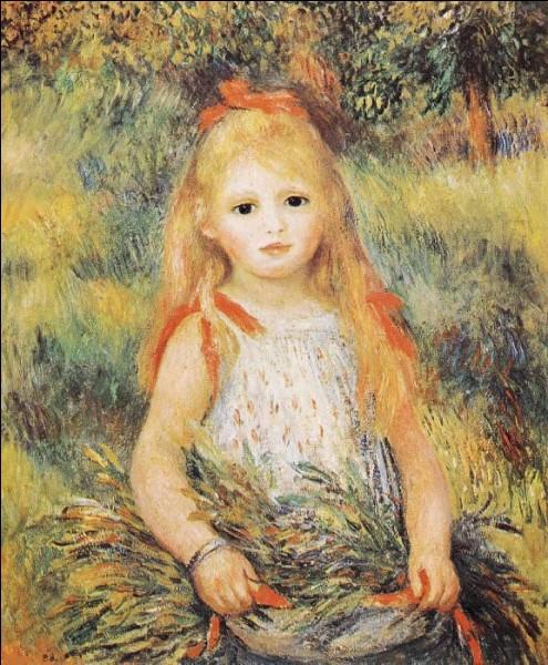 """Qui a représenté cette """"Enfant portant des fleurs"""" ?"""