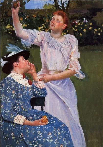 """Qui a peint """"Jeune femme cueillant des fruits"""" ?"""