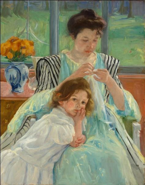 """Qui a peint """"Jeune mère cousant"""" ?"""