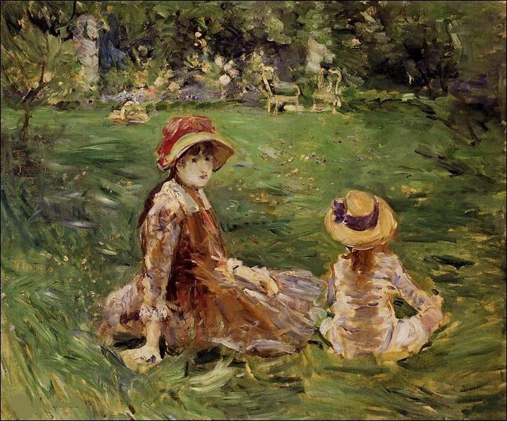 """Son tableau s'intitule """"Dans le jardin à Maurecourt"""" :"""