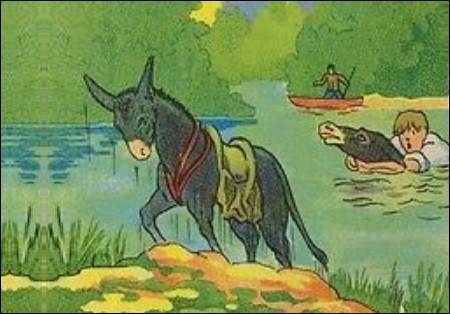 Comment se nomme la fable de La Fontaine qui parle de deux ânes ?