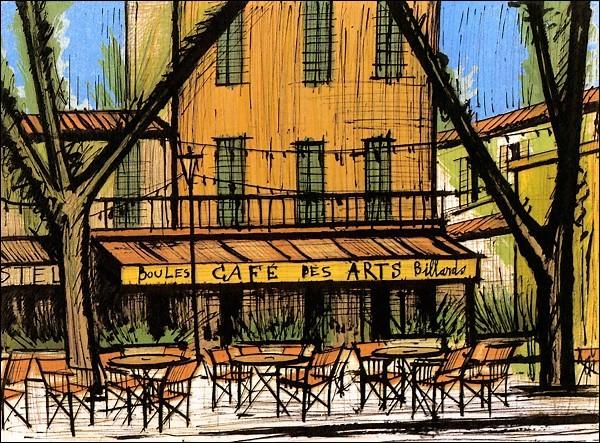 """Qui est le peintre du """"Café des Arts"""" ?"""