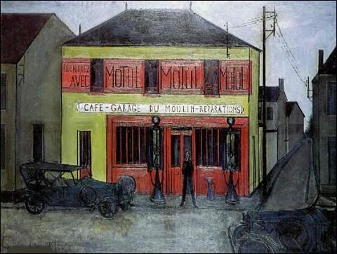 """Qui a représenté le """"Café-garage du Moulin"""" ?"""