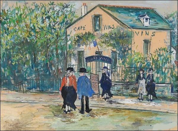 """Qui est le peintre du """"Café Daubercy"""" ?"""