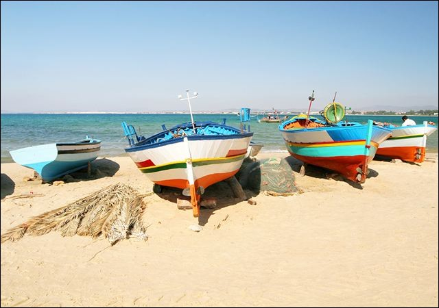 Au nord, quel cap délimite le golfe d'Hammamet au large de la Tunisie ?