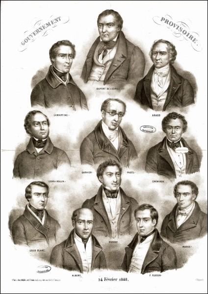 """Le début de l'année 1848 marque la fin de la monarchie de Juillet. Le 24 février Lamartine proclame : """"Le gouvernement actuel de la France est le gouvernement républicain !"""". Quel fut le premier président de la deuxième république ?"""