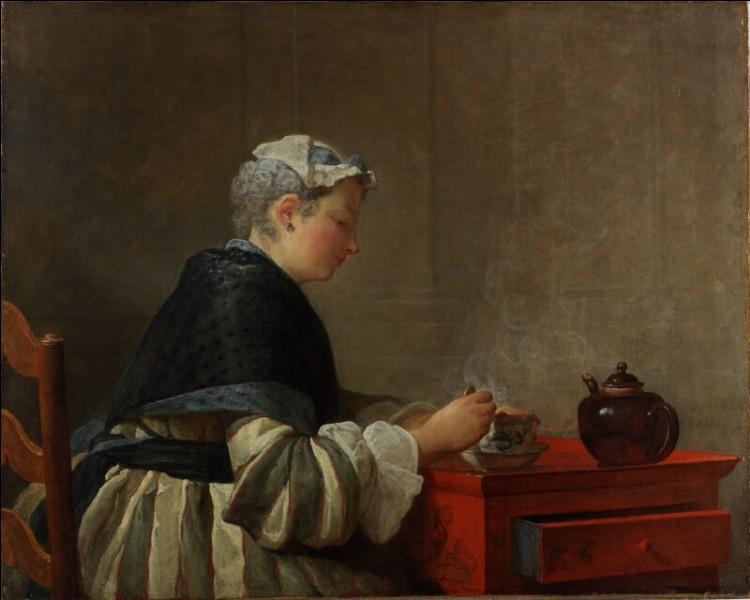 """Voici """"Une dame prenant son café"""" représentée par :"""