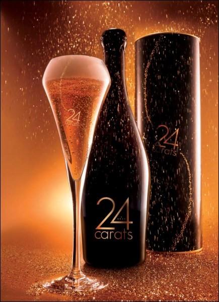 Dans quel pays cette bière aux paillettes d'or 24 carats est-elle produite ?