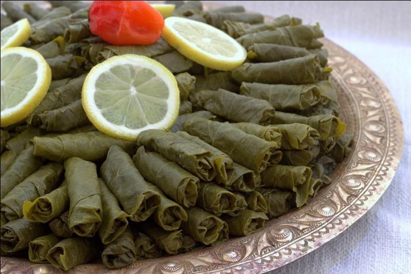 Voici ces mêmes feuilles farcies à la grecque, quel est leur nom dans la cuisine orientale ?
