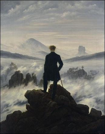 En quelle année, Caspar David Friedrich peint 'Le Voyageur contemplant une mer de nuages' ?
