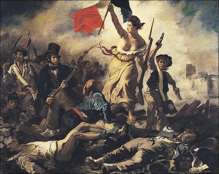 Qui a peint 'La Liberté guidant le peuple' en 1830 ?