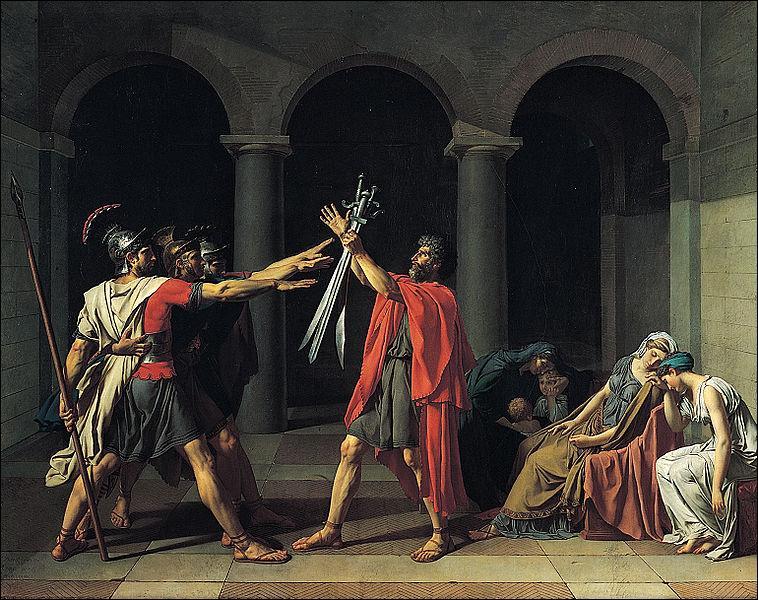En quelle année, Jacques Louis David peint 'Le Serment des Horaces' ?