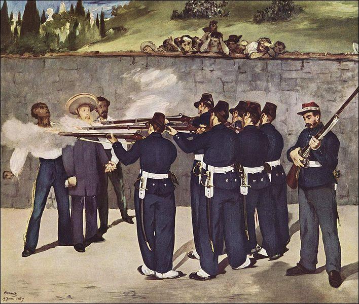Qui reproduit, en 1867, 'l'Exécution de l'Empereur Maximilien du Mexique' ?