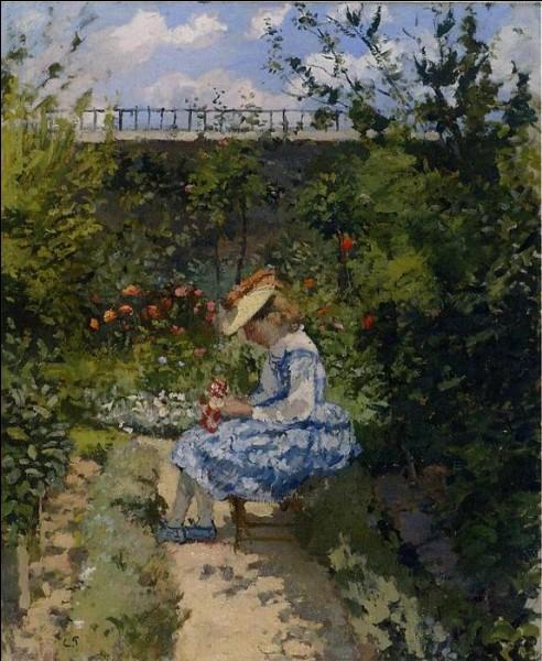 Qui a peint Jeanne dans le jardin de Pontoise ?