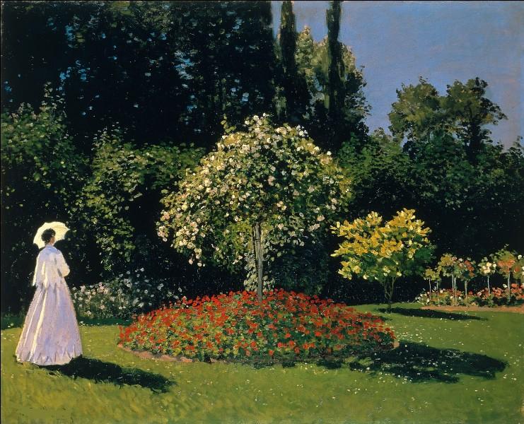 Qui a représenté Jeanne-Marie Lecadre dans ce jardin ?