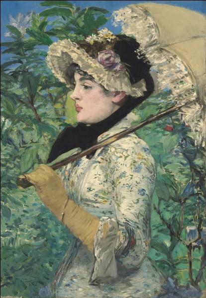 """Qui a représenté Jeanne Demarsy, sur cette toile nommée """"Le Printemps"""" ?"""