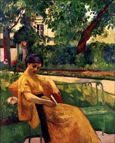 """Qui est l'auteur de la toile """"Jeanne en jaune dans le jardin de Neuilly"""" ?"""