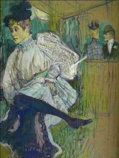 """Et nous terminons avec une toile que beaucoup connaissent intitulée """"Jane Avril dansant"""", signée par l'artiste :"""